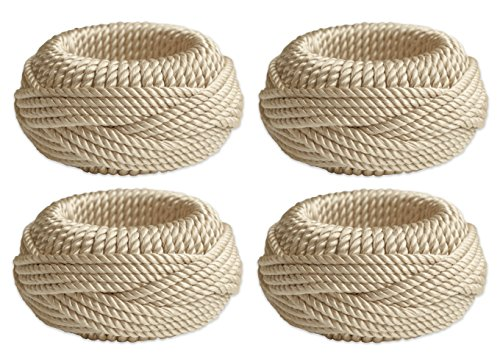 (Bardwil Twisted Rope Set of 4 Napkin Rings)
