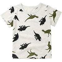 Coper Cute T-shirt, Toddler Baby Boys Dinosaur Print Pocket T-shirt Tops (18...