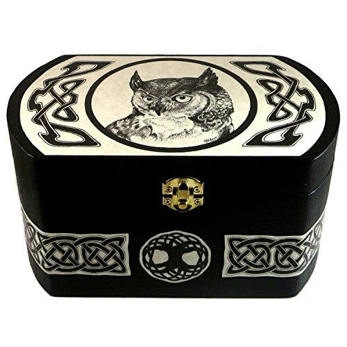 Celtic Owl Tree of Life Wooden Box by Dragon Star Creations LCB3495