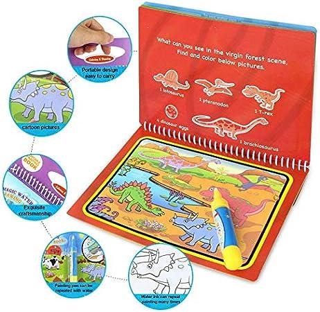 Animal ZREAL Reutilizables Water Painting Libro coloraci/ón Magic Doodle rei/ßbrett para ni/ños Juguete