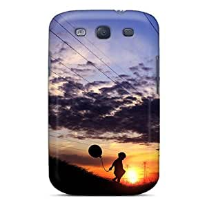 Anti-scratch Case Cover Romantic Area Protective Playing Alone Case For Galaxy S3