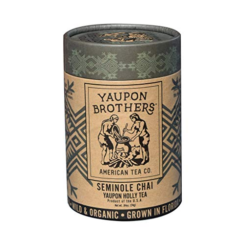 Yaupon Brothers American Seminole Chai Yaupon Organic Tea - Naturally Caffeinated, Antioxidant Tea - 16 Teabags in Eco-tube ()