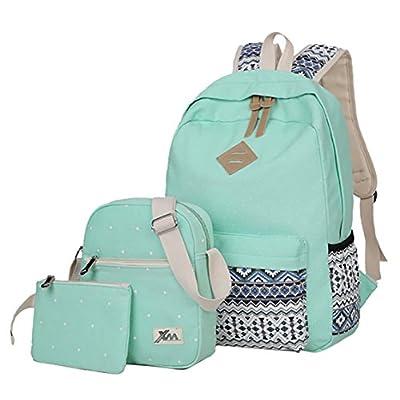 aaddf49ac8e9 Veenajo Casual Lightweight Canvas Backpacks Cute Dot Bookbag Shoulder Bag  School Backpack for Teen good