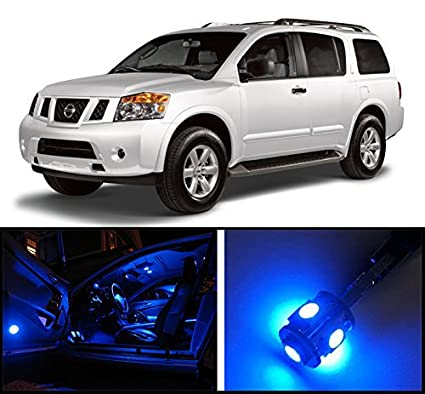 Amazon Com 2005 2015 Nissan Armada Premium Blue Led Interior