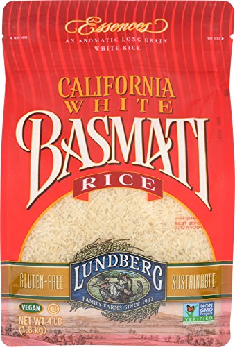 Lundberg Family Farms Rice, White Basmati, 4 Pound by Lundberg