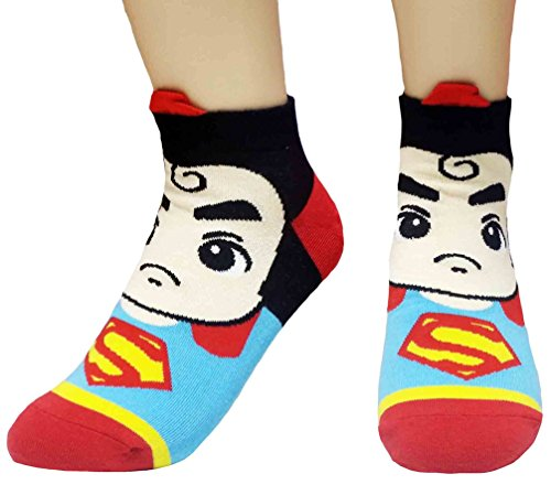 JJMax Women's Superheroes and Villains Cute Cartoon Hero Socks Set -