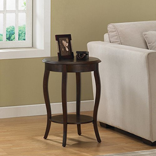 Metro Shop Walnut 18-inch Round Accent Table (Bookcase Round Walnut)