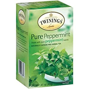 Twinings Pure Peppermint Pure Herbal Tea 20 Count, Pack of 2