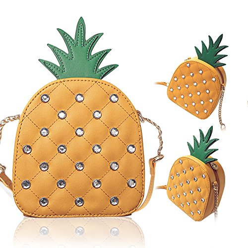 Pineapple Crossbody Bag, Pershoo Women Shoulder Bag Messenger Bag Phone Purse