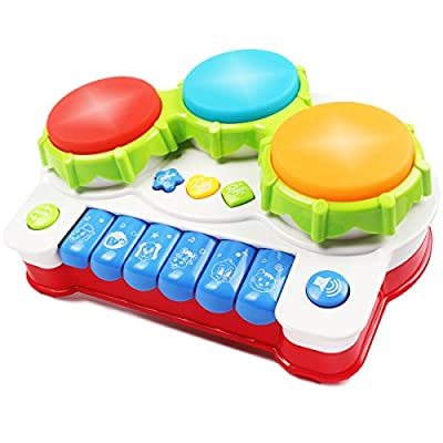 Baby Music Toy,AMOSTING Learning and Development Fun Toddler Toys Musical keyboard Drums Set for Babies Early Educational Game by AMOSTING that we recomend personally.