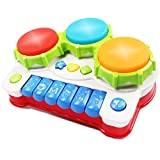 Baby Music Toy,AMOSTING Learning and Development Fun Toddler Toys Musical keyboard Drums Set for Babies Early Educational Game Reviews