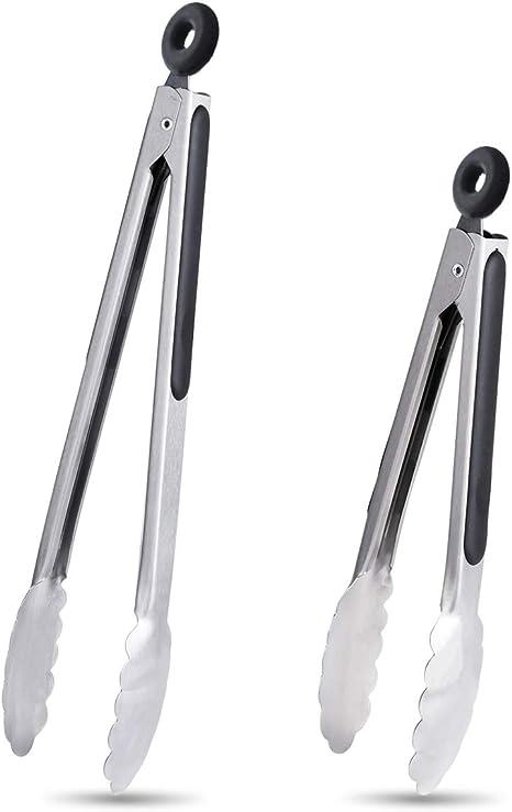 Ineibo Cuisine Premium Silicone Pinces-Pack de 2 9