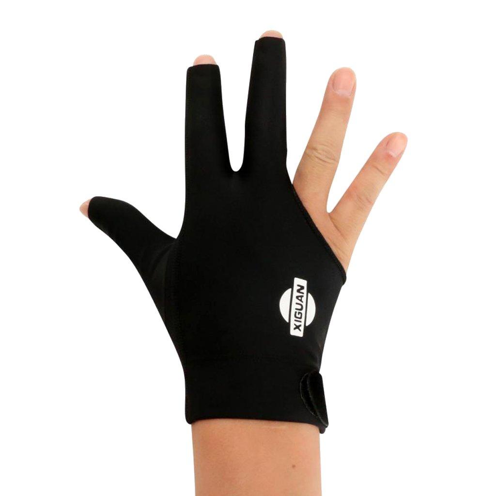 MagiDeal Guante de Billar con Punta de Billar El/ástico Profesional Derecho de 3 Dedos para Billar de Mano Derecha Azul