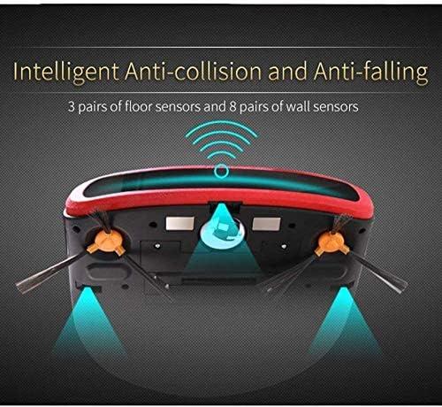 Robot de Balayage de Haute qualité Robot Balayer, Quiet Work Aspirateur de Recharge Automatique robotisée avec Animaux de Fourrure Cheveux poussière Plancher Dur à Tapis