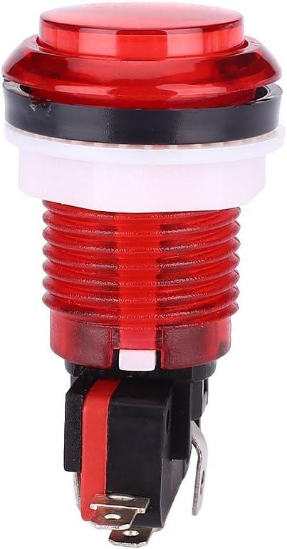 Cewaal Interruptor del botón de la lámpara del LED iluminado DIY Multicade Microswitch piezas para la máquina de juego Arcade Mame