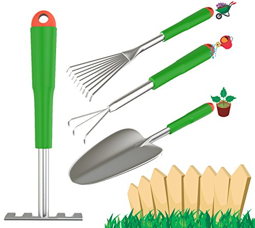 Wild and green 4 piece gardening tool set includes a short for Gardening tools 6 letters