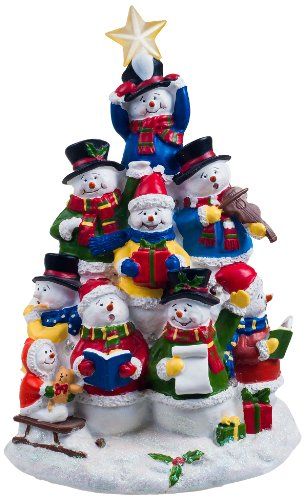 San Francisco Music Box Factory Snowman Tree Lighted ()