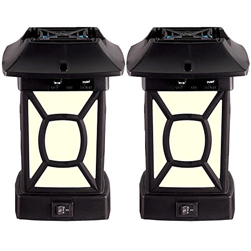 Thermacell Outdoor Mosquito Repeller Plus Lantern, Cambridge Patio Shield, 2-Pack
