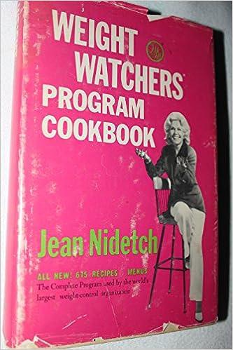 Weight Watchers Program Cookbook Jean Nidetch 9780082080213
