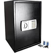 ROVSUN Digital Security Safe Box 1.8 CF Large Electronic Cabinet with Combination Lock &Solid Steel Construction,Great for Home Office Hotel Business Jewelry Money Passport,Included Battery