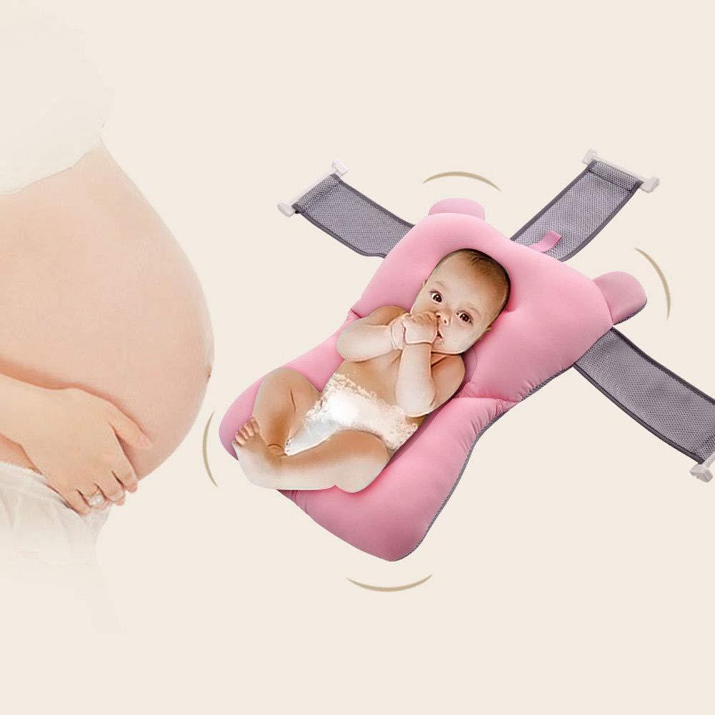 CviAn Faltbare Baby Badewanne Badematte Pad Baby Badewanne Unterst/ützung Sitz Tragbare S/äuglingsbad Kissen Polsterung Weiche S/äuglingsliege Neugeborenen Duschpad