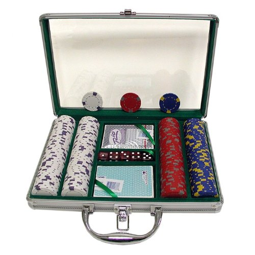 Trademark 200 13 Gm Pro Clay Casino Chips with Clear Cover Aluminum Case (Silver) by Trademark Global