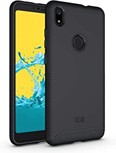 TUDIA ZTE Blade Max 2s Case, Slim-Fit Heavy Duty [Merge] Extreme Protection/Rugged but Slim Dual Layer Case for ZTE Blade Max 2s (Matte Black)