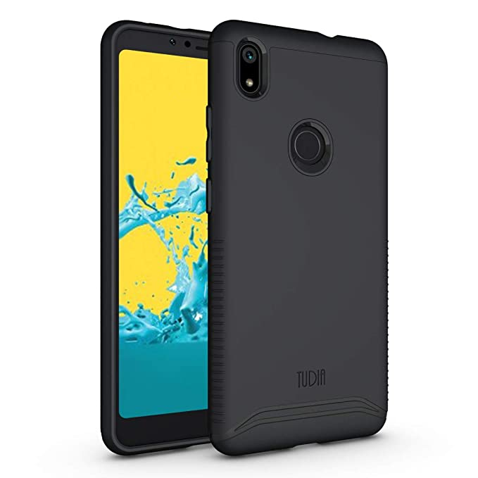 the best attitude 2d34c 82a06 TUDIA ZTE Blade Max 2s Case, Slim-Fit Heavy Duty [Merge] Extreme  Protection/Rugged but Slim Dual Layer Case for ZTE Blade Max 2s (Matte  Black)