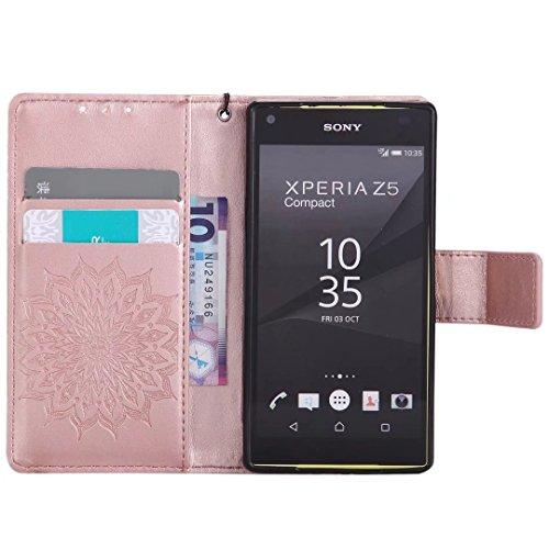 COWX Sony Xperia Z5 compact / Z5 mini Hülle Kunstleder Tasche Flip im Bookstyle Klapphülle mit Weiche Silikon Handyhalter PU Lederhülle für Sony Xperia Z5 compact / Z5 mini Tasche Brieftasche Schutzhü IHlNOQ