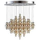 Cyan Design 05279 Bubbles Cash 6 Light Multi Light Pendant, Smokey Brown