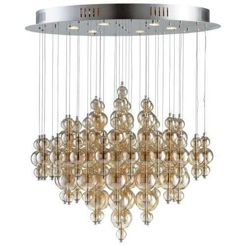 Cyan Design 05279 Bubbles Cash 6 Light Multi Light Pendant, Smokey Brown by Cyan Design