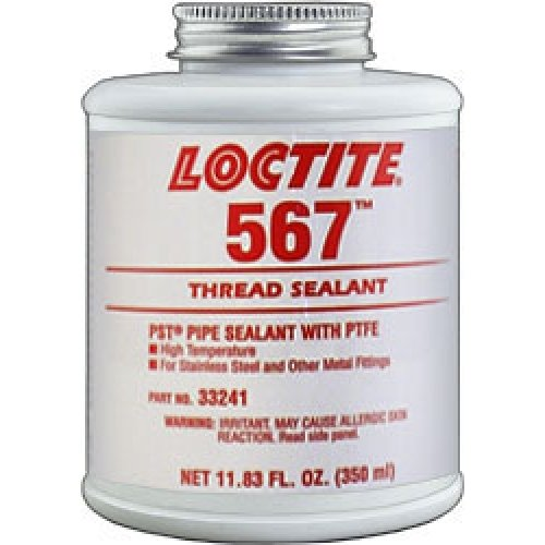 Thread Sealant with PTFE, 350mL, White by Loctite