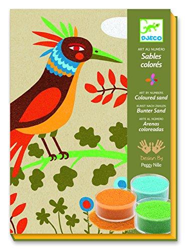 Djeco Colored Sand Art Kit, Birds of Paradise