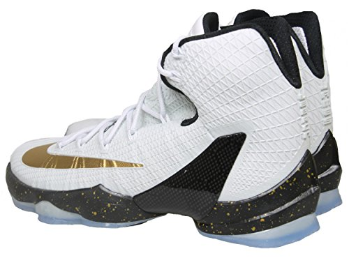 Nike Heren Lebron Xiii Basketbalschoen Wit / Metallic Goud / Zwart
