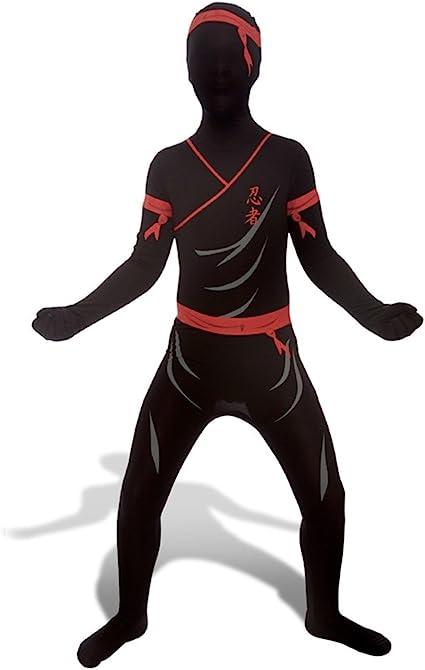 Boys Kids Childrens Ninja Skeleton Fancy Dress Costume Outfit Martial Arts