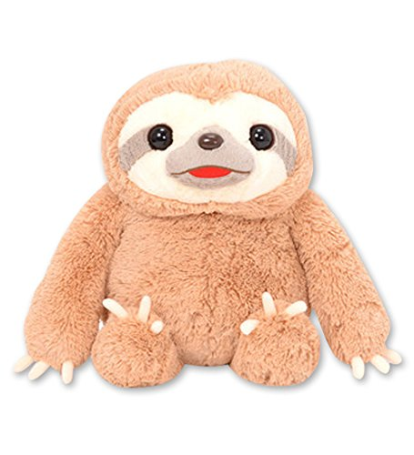 Amuse 251924A Namakemono No Mikke &Amp; Friends Sloth Large Mikke Brown Plush Collection -