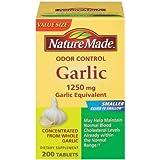 Nature Made Odor Control Garlic 1,250 Mg Garlic Equivalent, Tablets, 200-Count