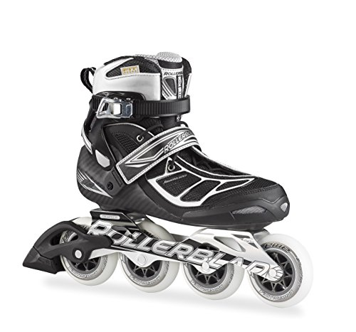 Rollerblade 15 TEMPEST 90C High Performance Fitness/Training Skate with 4x90mm Supreme Wheels, Black/Silver, US Men 6