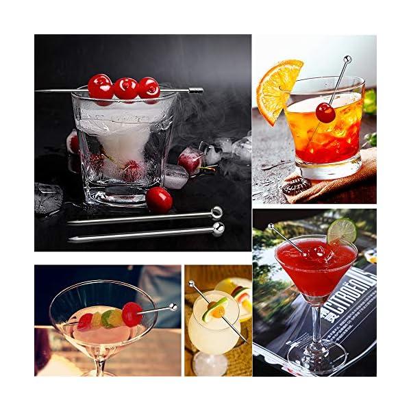GCOA 20 Pezzi Bastoncini da Cocktail, Cocktail Picks in Acciaio Inox Bastoncini da Frutta per Catering, Banchetti… 7 spesavip
