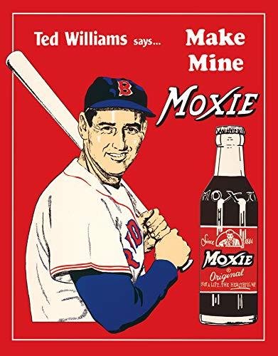 Desperate Enterprises Ted Williams Says Make Mine Moxie Tin Sign, 12.5