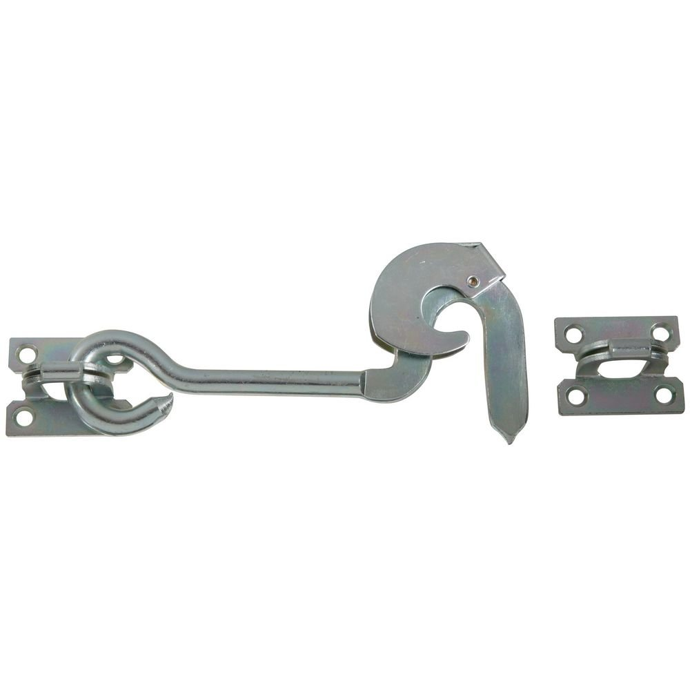 National Hardware N122-390 2110BC Safety Gate Hook Zinc plated, 8''