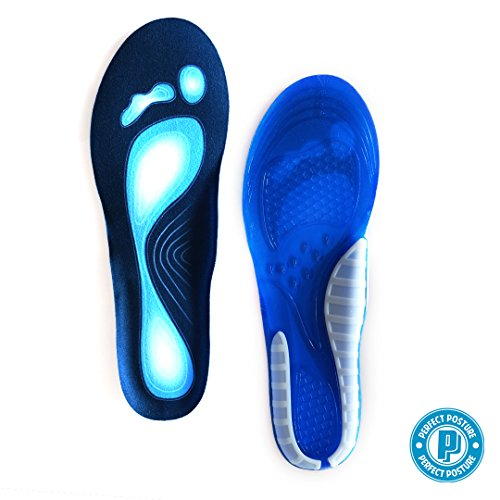 *New Design* Shoe Insoles, Foot Pad Cushions; New CoolTec Gel, Advanced Material Technology, Comfortable, Durable!! Rapid Foot Pain Relief (2 Pieces) (Women's (US Size 6-10)) by Perfect Posture