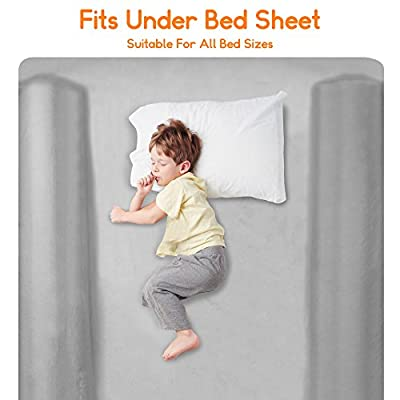 Inflatable Toddler Bed Rail. Portable Kids Bed Rail Guard. Safety Bed Bumper Great for Home or Travel. Fits All Bed Sizes. (2 Pack)