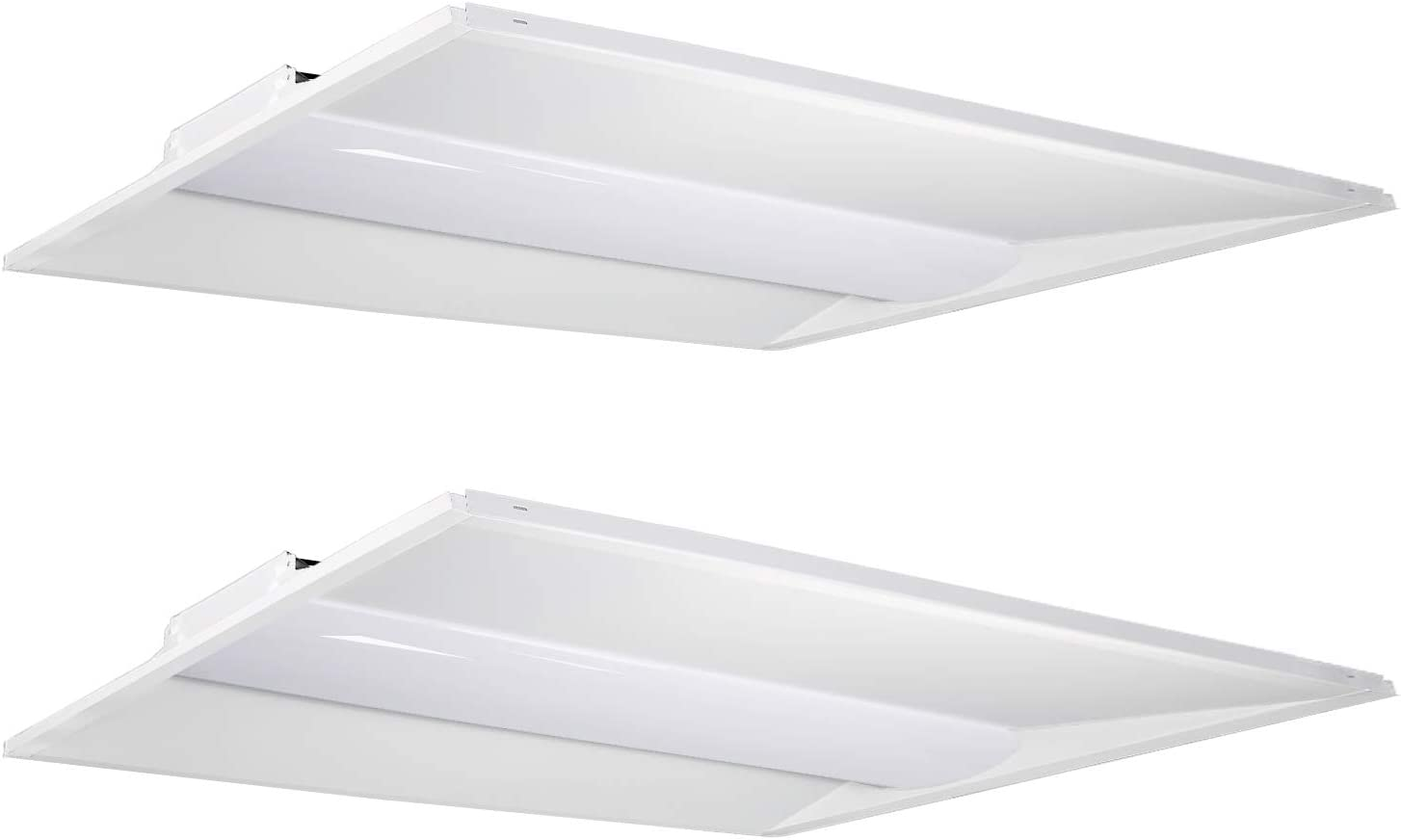 Hykolity 2x4 FT 50W 5000K Flat LED Troffer Panel Light 0-10V Dimmable Drop