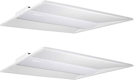 LED Troffer 40w 2x2 60w 2x4ft Recessed 5000k Dimmable Troffer UL DLC USA SELLER