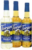 Torani Coffee Sugar Free Syrup Variety Pack, 25.4 Ounce (Pack of 3) one each of Sugar free: Vanilla, Caramel and…