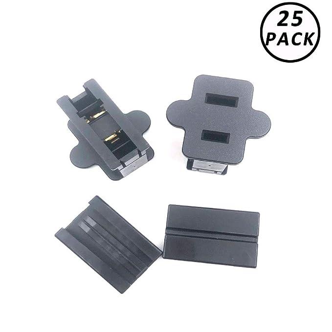 SPT-2-Black-Male Zip Plug SPT-2 Male Female Slip on Plug for SPT Zip Cord Cable 25 Pack Vampire Plug Gilbert Plug 8 AMP