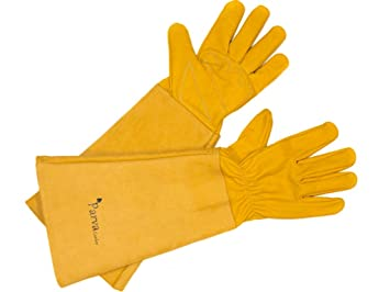 Womens Gardening Gloves with Elbow Length Gauntlet Leather Glove