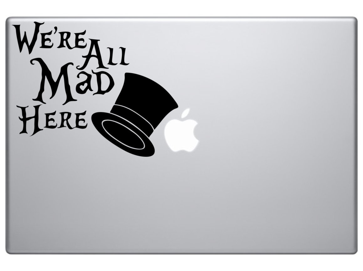 Art Stickers /& Decals Wonderland All Mad Here Vinyl Car Decal External Fitting