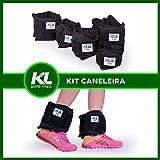 Kit Caneleira Tornozeleira De Peso 2kg 3kg 4kg Fixa Velcro